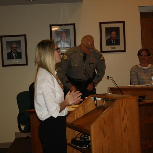 Click to view album: Appointment of Police Officer Taylor Bellau - January 3, 2018