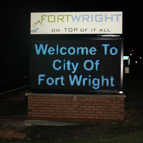 Click to view album: Fort Wright Electronic Message Board
