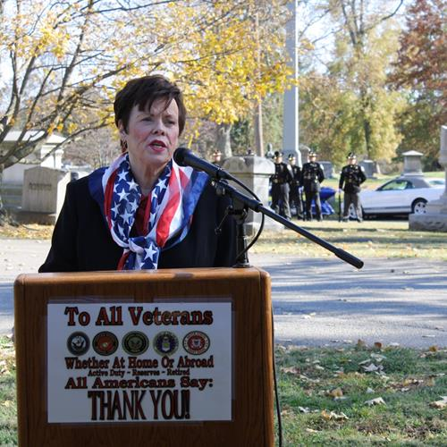 Click to view album: Veterans Day at Highland Cemetery - November 10, 2019
